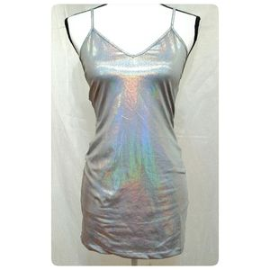2/$20!! NWT Holographic Bodycon Dress by Forever21